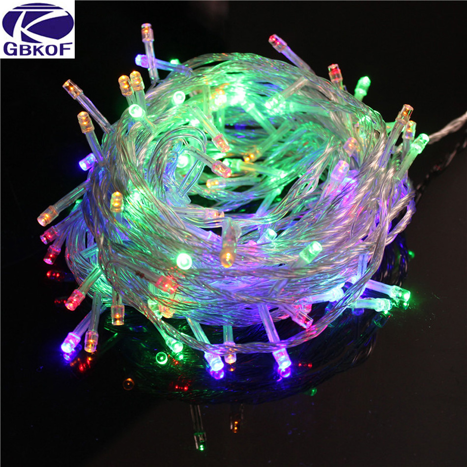 GBKOF 10M Waterproof 220V 100 LED Holiday String Lights For Christmas Festival Party Fairy Colorful Xmas Decor LED String Lights
