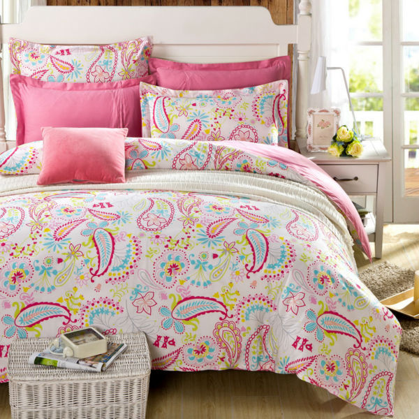 girls bedding fashion girls bedding sets with Bohemian Pattern,1pc duvet cover +1pc sheet  +2pcs Pillow sham bedcover set twin full queen king