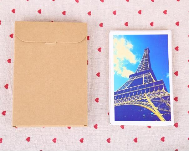 10.8*15.5 + 1.5 см Крафт-Бумага конверт партия пригласительный билет письмо канцелярских товаров в упаковке bag подарок открытку Почтовые открытки фото box