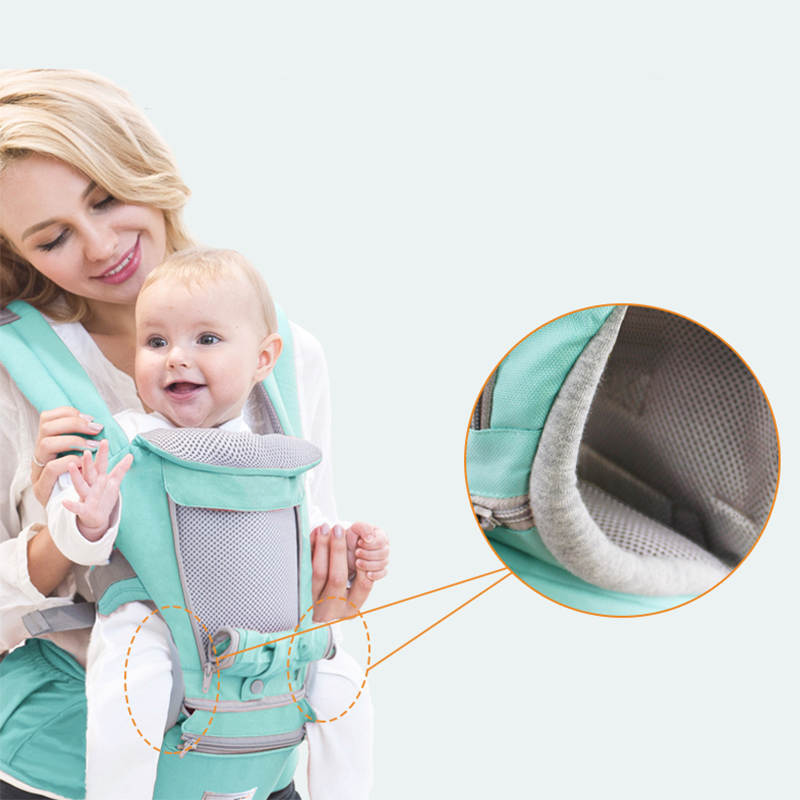 Ergonomic Baby Carrier Infant Waist Belt Kids Hipseat Sling Front Facing Kangaroo Ventilated Wrap Carrier For Baby Travel 0-36M