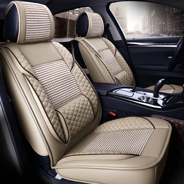 Us 209 59 Cool Summer Leather Seat Covers For Dodge Jcuv Journey Crossroad Caliber Avenger Caravan Durango Ram Truck Seat Cushion Rugs 11w In