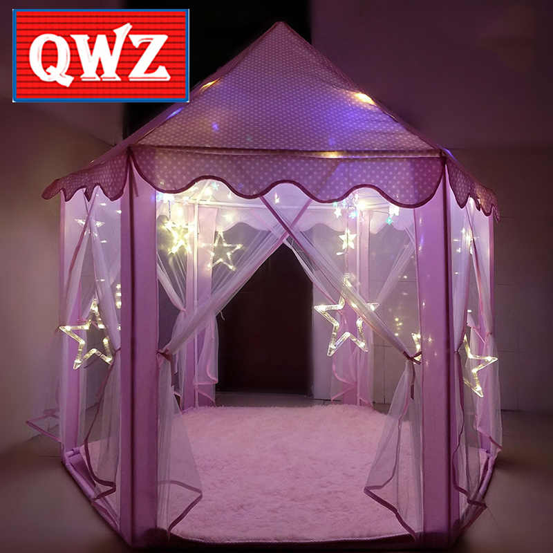 Detail Feedback Questions about QWZ Indoor Tipi Childrenu0027s Toy Tents for Kids Game Castle Play Tent House A Tulle Tent at Hexagonal Castle Room Toys for ... & Detail Feedback Questions about QWZ Indoor Tipi Childrenu0027s Toy Tents ...