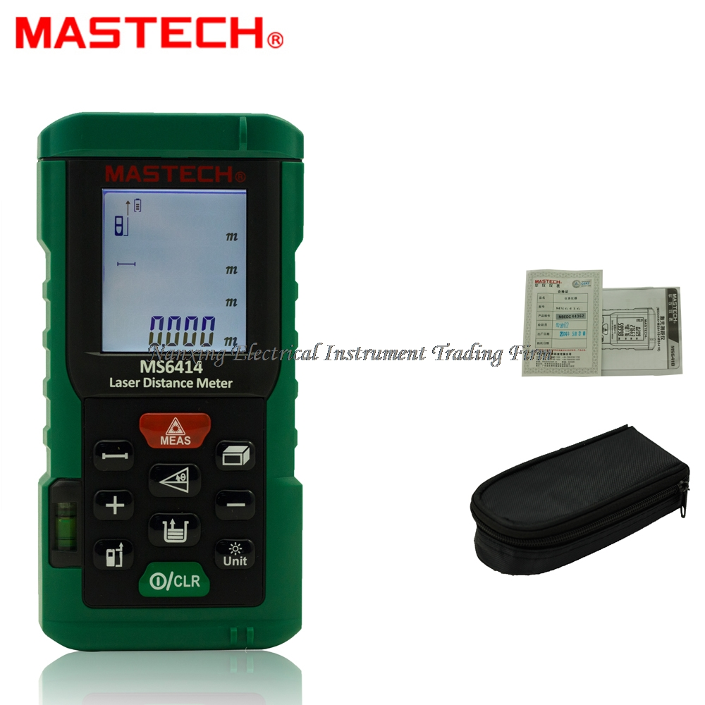 MASTECH MS6414 Digital Laser Rangefinder Accuracy Laser Distance Meter 40M +/- 2mm Area Volume Tape Distance Measuring Tool 40m laser distance meter laser rangefinder 40m distance measurer instrument measurement area volume digital measuring tool 013