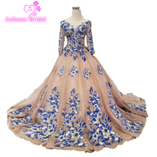 2019 New Pearl Pink Luxury Lace Appliques Full Beading Crystal Amazing Arabic Vintage Sexy Formal Long Evening Prom Dresses