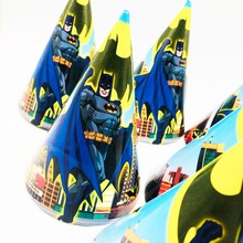 6pcs/set Batman Party Supplies Cheering Toys Tricorn Superhero Hat Boys Cap Kids Birthday Decoratin Favors Christmas