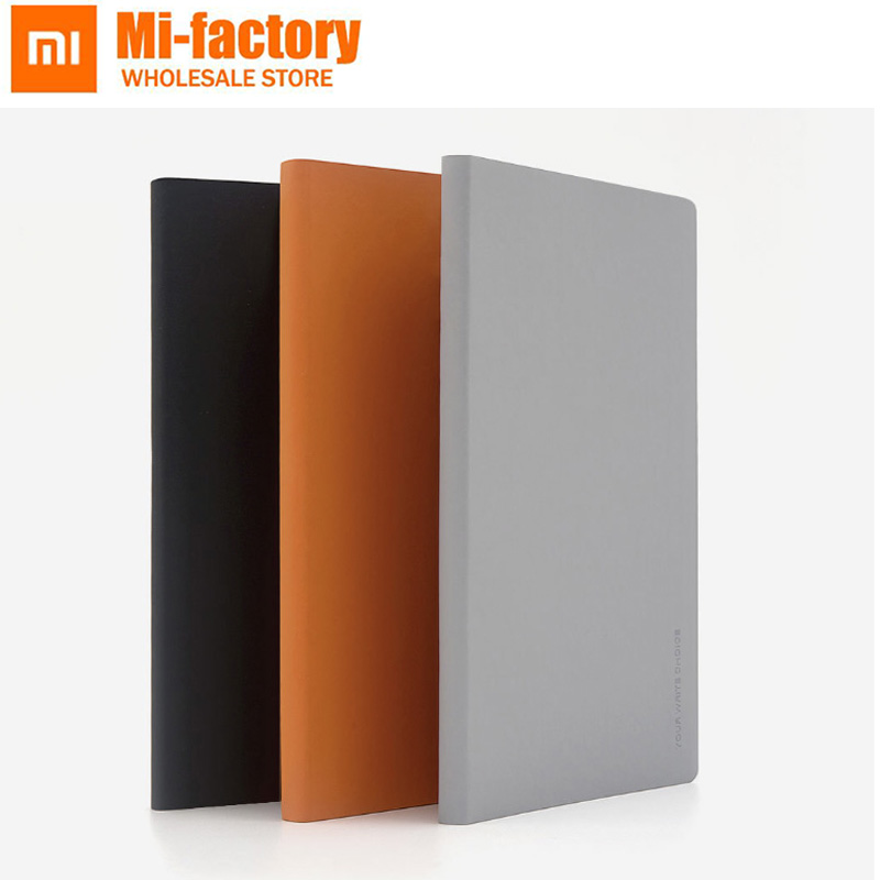 2pcs Xiaomi Mijia Kaco Green Noble Paper NoteBook PU Cover Slot Book for Office Travel with a Gift