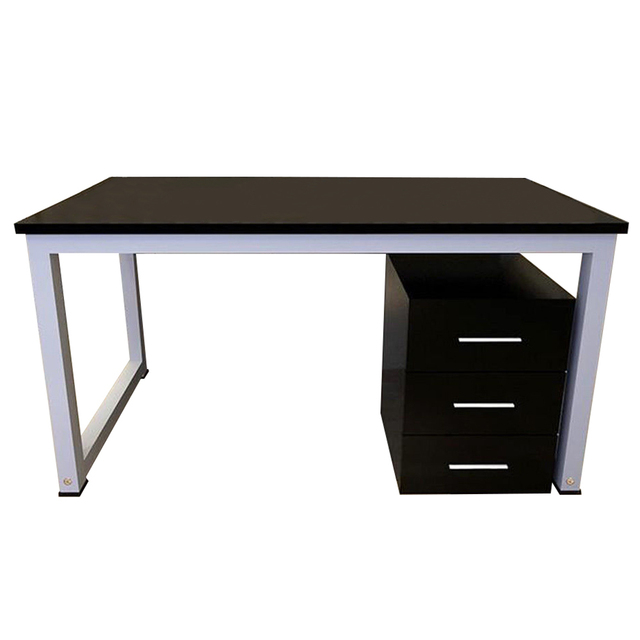 Modern Metal Computer Pc Home Office Desk Study Table Bedroom Colour Black