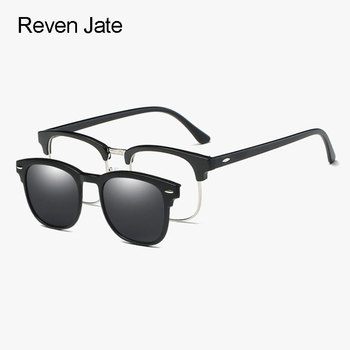 0a413633a8 Reven jate 2218 plástico polarizadas Gafas de sol Marcos con magnético  Super Light espejo polarizar gafas clip-ons