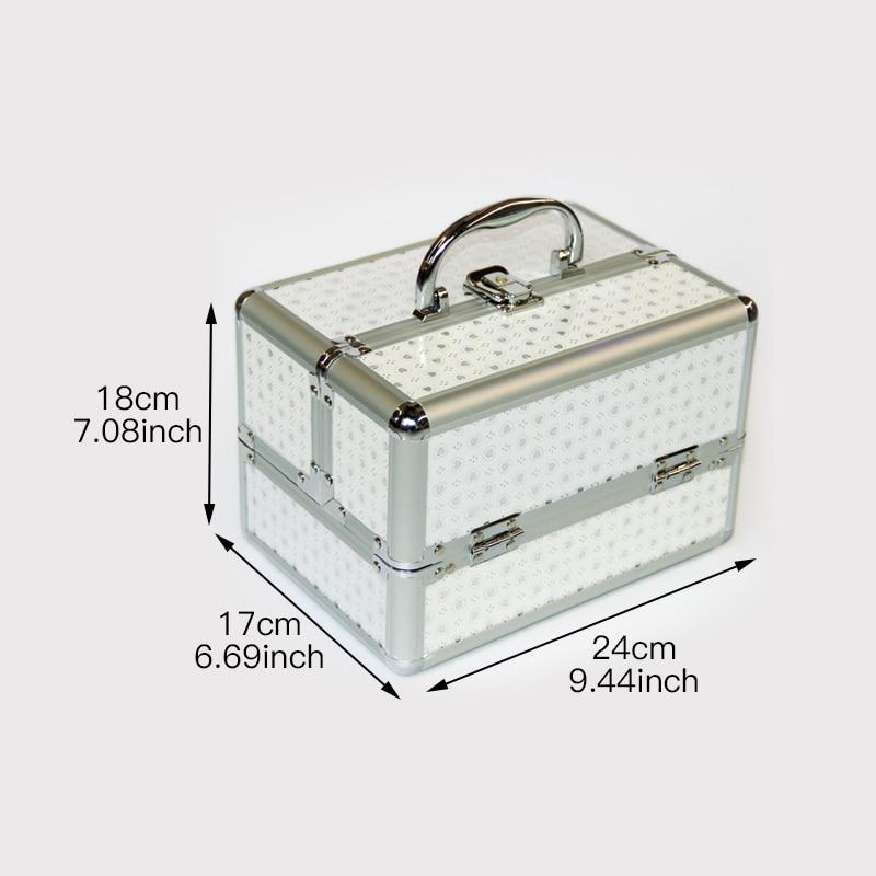 Image 4 - ポータブルプロの化粧品袋旅行のための化粧品の大容量女性ブラシ化粧箱大容量旅行バッグ    グループ上の スーツケース