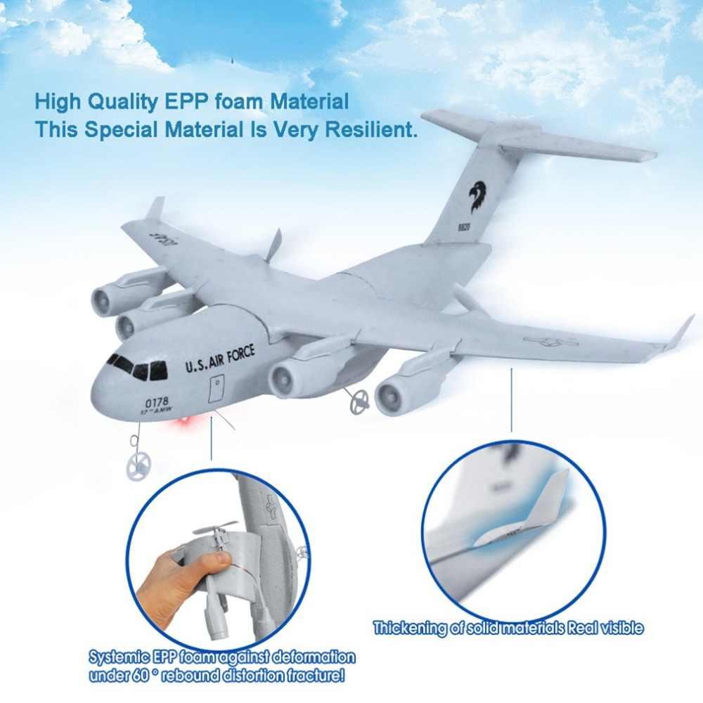 C17 Máy Bay Vận Tải Sải Cánh 373Mm EPP RC Drone Máy Bay 2.4GHz 2CH 3 Trục Tự Làm Máy Bay Cho Trẻ Em đồ Chơi
