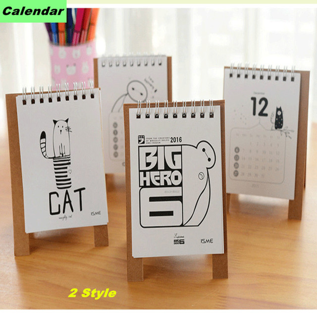 Diy Quote Calendar : Cartoon calendar mini table calendario cute cat