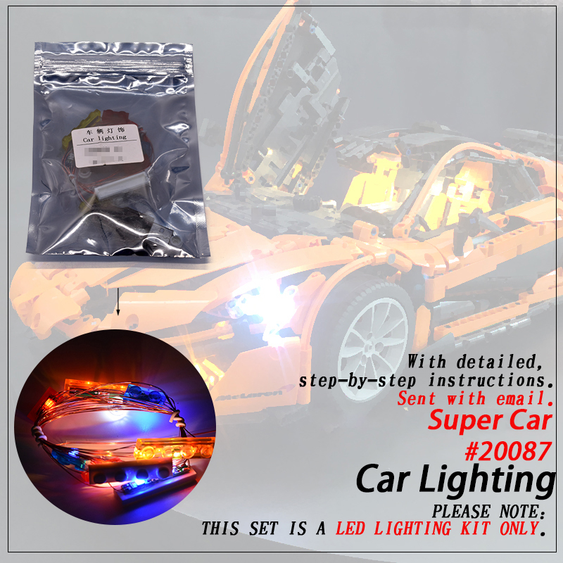Led Light Set only light included For MOC 16915 Super Car Compatible 20087 Technic Building Blocks