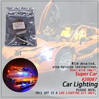 Led Light Set (only light included ) For legoings MOC 16915 Super Car Compatible 20087 Technic Building Blocks Bricks Bricks