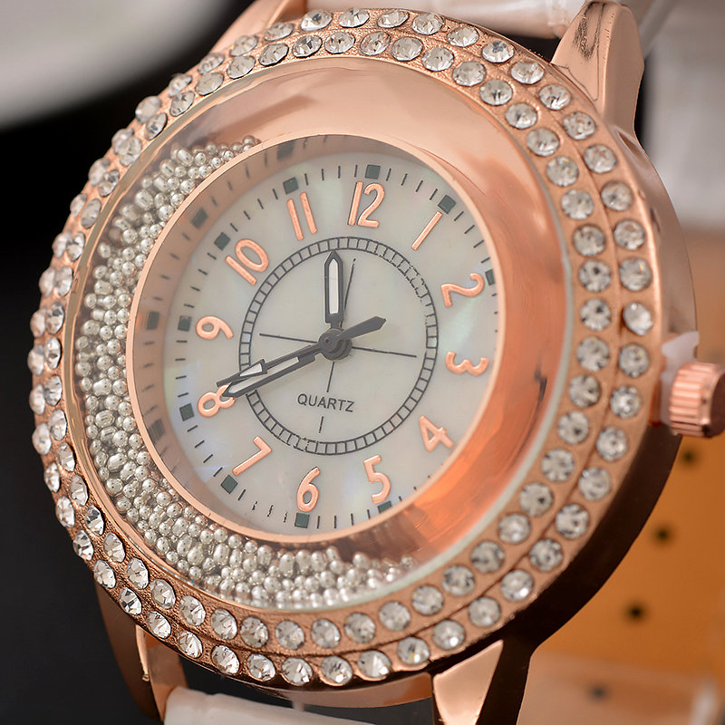 Luxury Leather Crystal Stone Watches Women Dress Watch Quartz Bracelet Watches Clock Gift Quartz Ladies Watch Relojes Mujer 2018