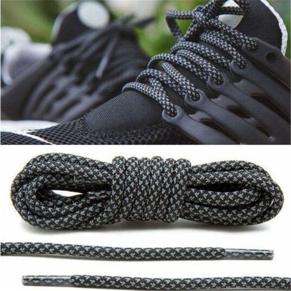 120cm/140cm  Round Reflective Shoe Laces 3M Sneakers Shoelaces Athletic Sports Rope Laces Shoess Accessories ZI114505