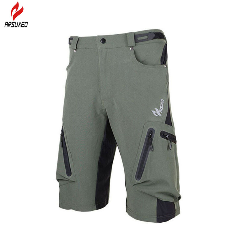 ARSUXED Breathable Wicking Leisure Running Hiking Cycling Shorts MTB Bike Mountain Climbing Sports Short Cycling Shorts For Men women s cycling shorts cycling mountain bike cycling equipment female spring autumn breathable wicking silicone skirt
