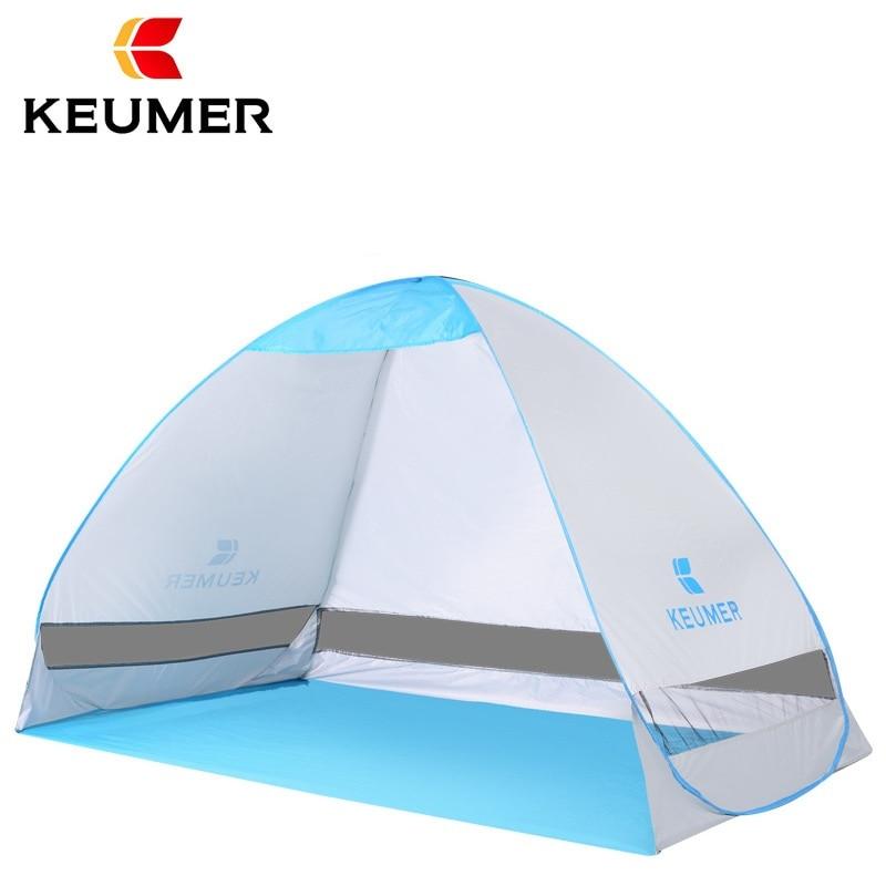 KEUMER Automatique tente de plage pare-soleil Auvent Gazebo 2 Personne Tente