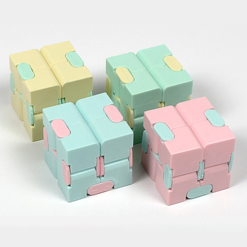 Infinite Magic Cube Decompression Anti-pressure Artifact Toy Child Candy Colors Intelligence Flip Cubes Adult Finger Toys TY0305