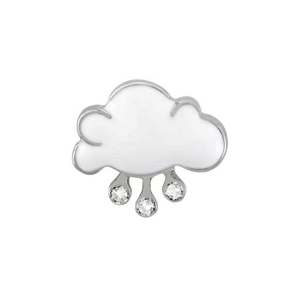 SILVER RAIN CLOUD CHARM, floating charms fit floating living lockets FC4316