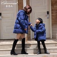 Mommy Son Outfits Winter Family Cotton Down Coats Jackets for Mother and Daughter Clothes Family Clothing Outfits Twins Sets