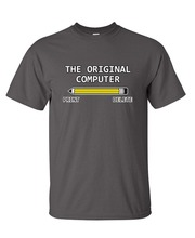 Graphic Shirts Crew Neck Short Sleeve Tall The Original Computer Geek Nerd Tee Sarcastic Adult Humor Very Funny  T Shirt For Men
