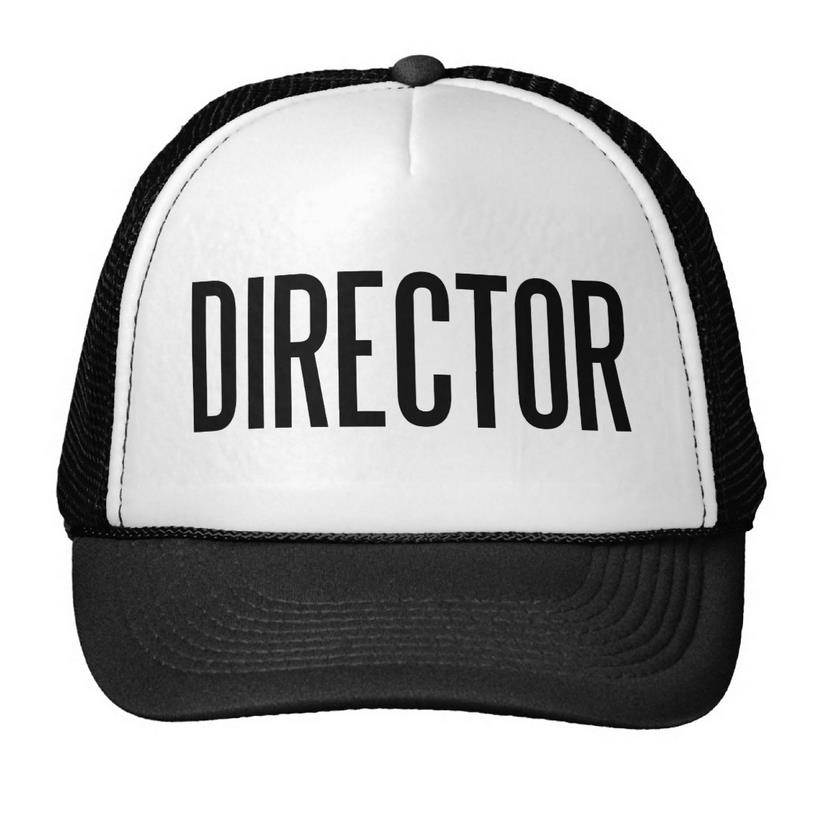 Director Letters Print Baseball Cap Trucker Hat For Women Men Unisex Mesh Adjustable Size Black White Drop Ship M-88 hot sale adjustable men women peaked hat hiphop adjustable strapback baseball cap black white pink one size 3 colors dm 6