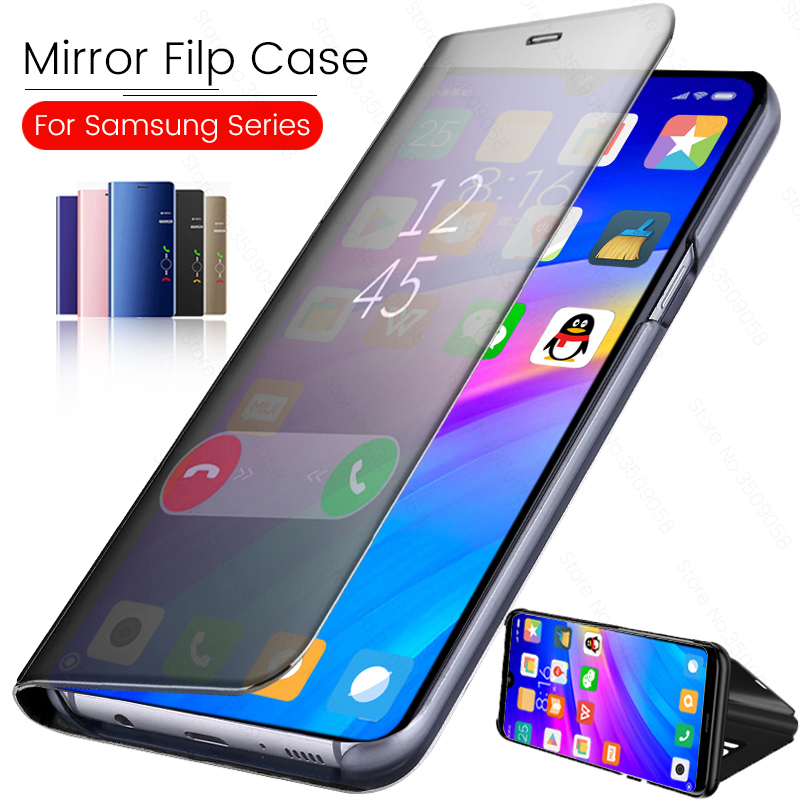 Mirror View Flip Case For Oneplus 7 Pro <font><b>6T</b></font> 5T Flip PU <font><b>Leather</b></font> Stand Phone Case For Oneplus 7 6 <font><b>One</b></font> Plus7 Oneplus7 Pro Coque Capa image