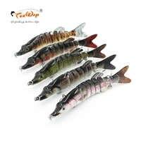 Wobblers pesca Lifelike Fishing Lure 8 Segmento Swimbait Crankbait Hard Bait Lento 23g 13 cm Com 6 # Pesca ganchos de Pesca Equipamento de Pesca