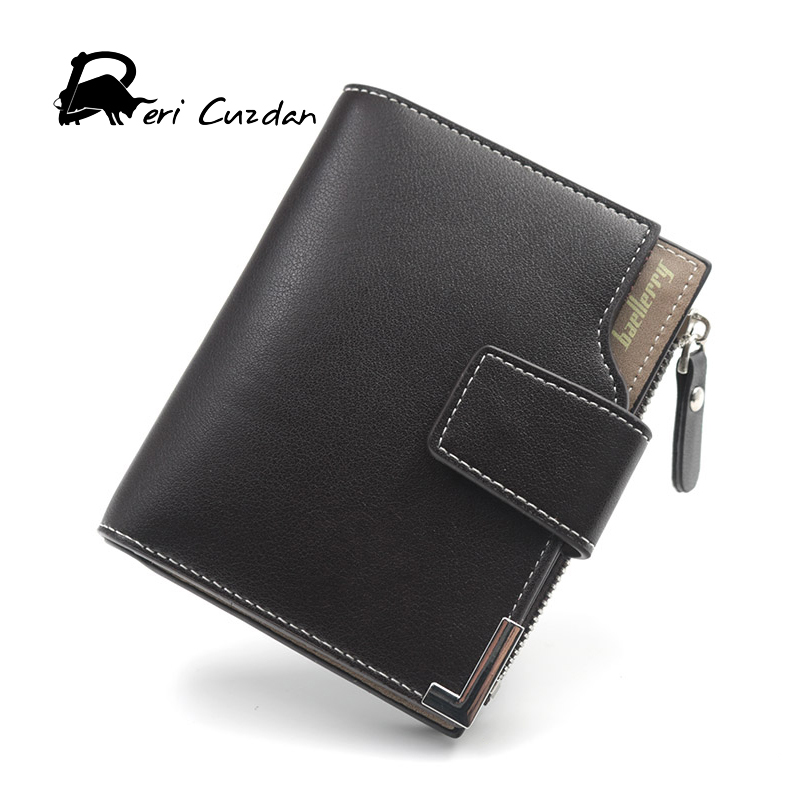 DERI CUZDAN Black Wallet Men Genuine Leather Men Wallets Purse Short Male Clutch Leather Wallet Mens Baellerry Brand Money Bag baellerry man wallets portefeuille homme card holder coin pocket cuzdan rfid male cuzdan purse clutch short purse with 6 styles