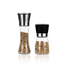 304 stainless steel hand pepper grinder silver sesame seasoning spice grinding bottle kitchen tools