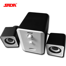 SADA Brand Mini wired Portable combination speaker Column computer speaker 2.1 USB channels 3W Laptop speakers PC 3.5mm plug(China)