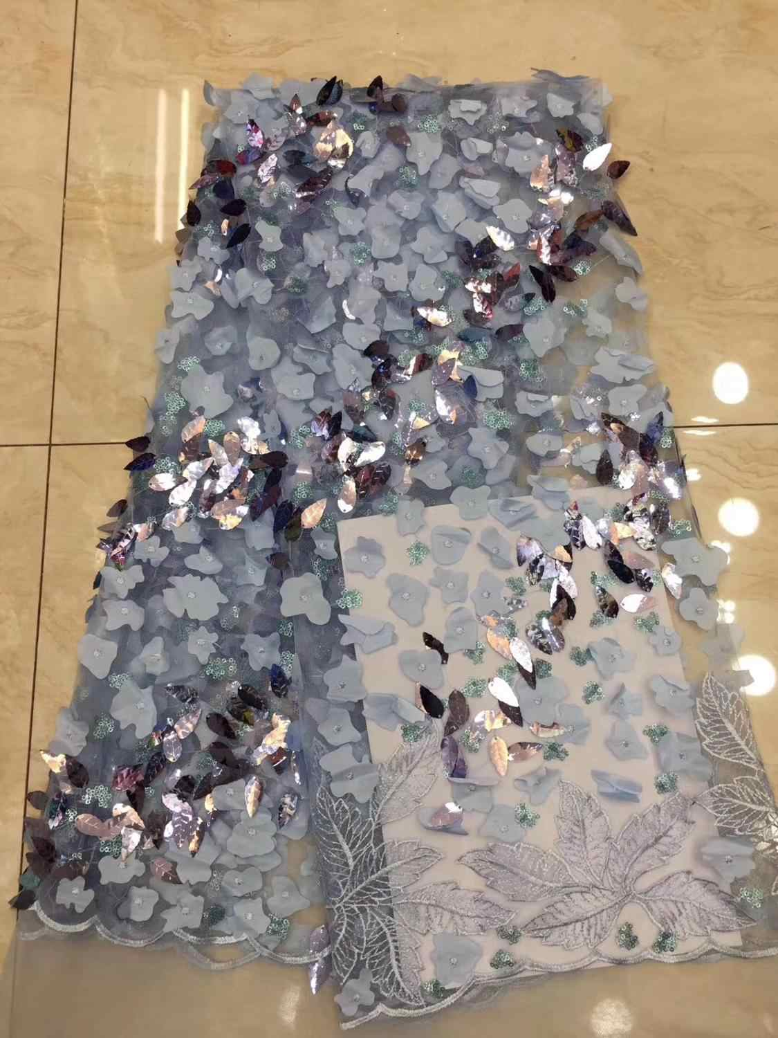 Latest black French Nigerian Laces Fabrics 2019 High Quality Tulle African Laces Fabric Wedding African French Tulle Lace  F5J