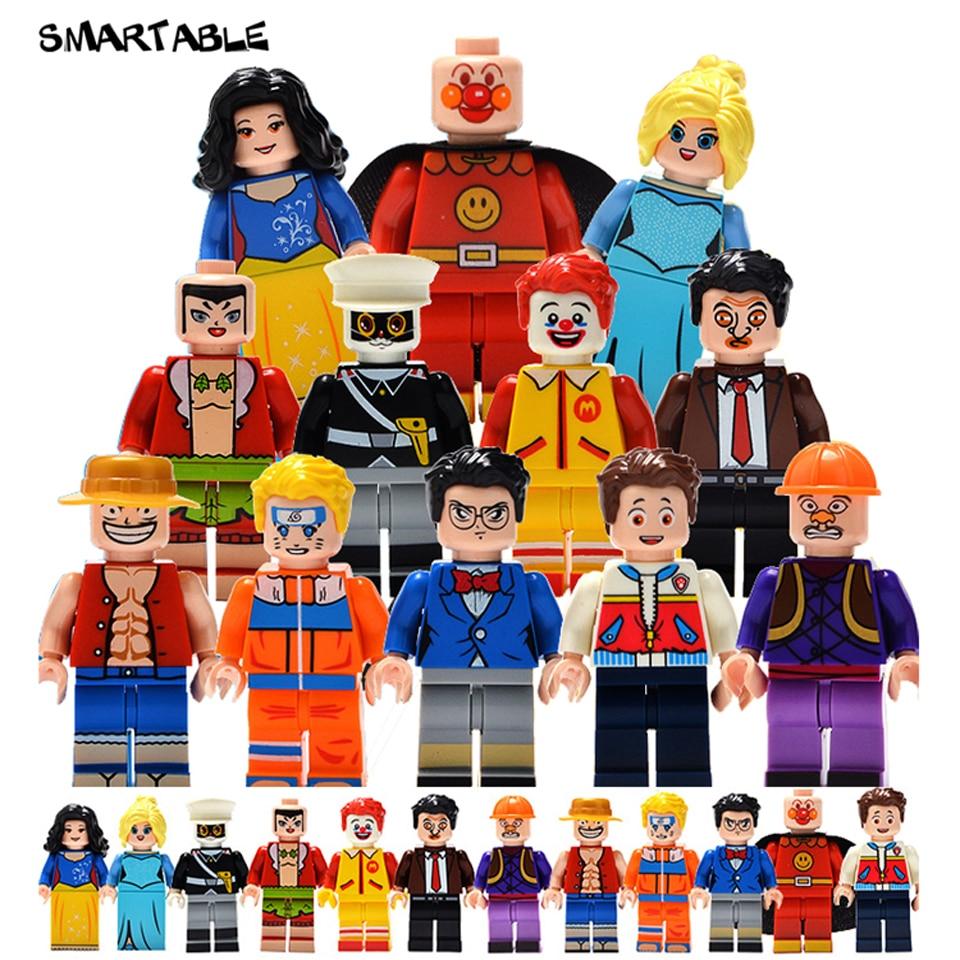 Smartable 12pcs Building Blocks cartoon Figures brick DIY toys Compatible Legoing Figures for Christmas Gift 1614