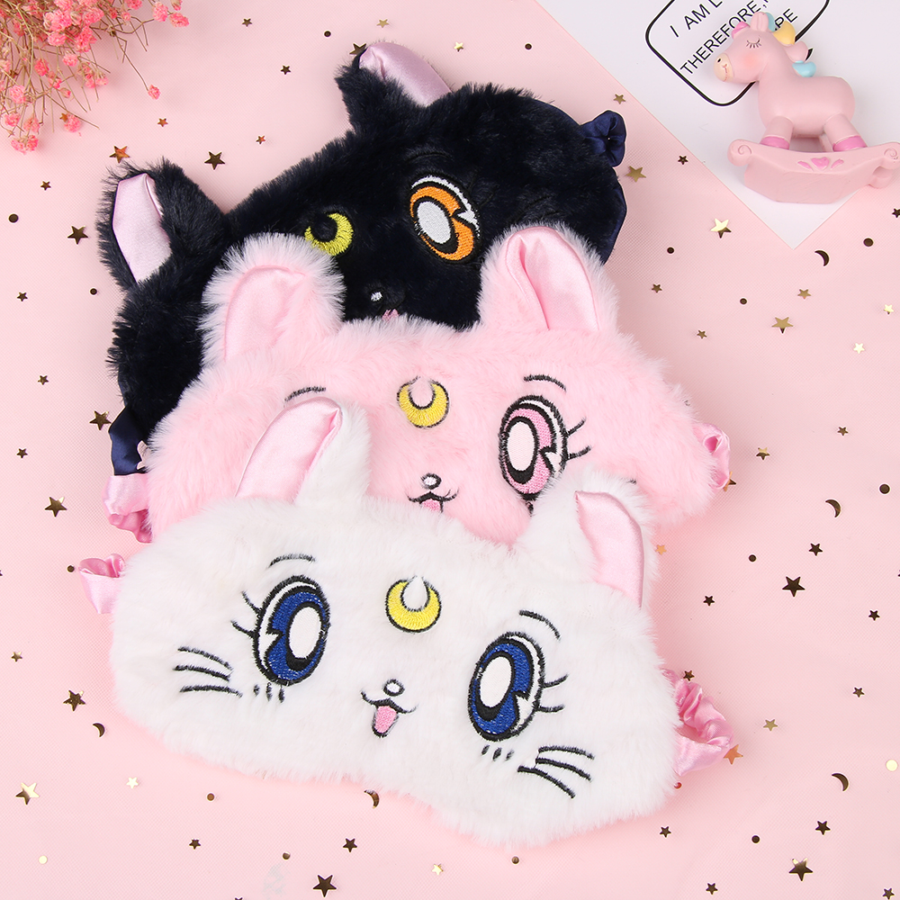 1PC Cute 3D Shading Eye Mask Soft Padded Sleep Eyeshade Animal Expression Picture Eye Rest Relax Eyeshade Blindfold Eye Care