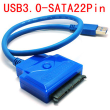 30pcs / lots USB 3.0 to SATA 22Pin 2.5″ 3.5″ HDD 7+15 Hard disk driver Adapter cable , Free shipping By Fedex