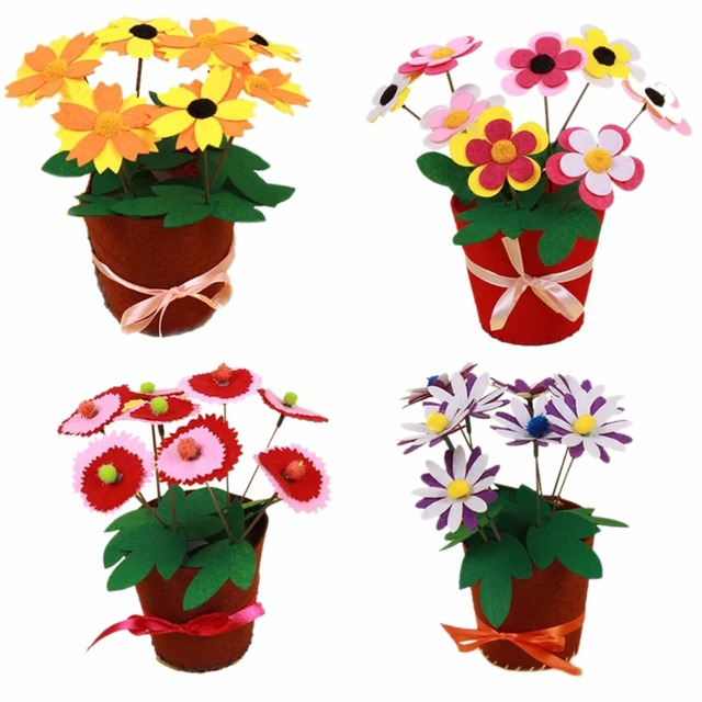 Artificial Flower Pot for Craft Kit