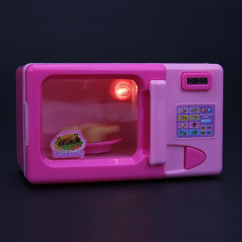 Mini Simulation Kitchen Toys Kids Children Play House Toy Microwave Oven Mini Simulation Kitchen Toy Baby Girls Pretend Play Toy