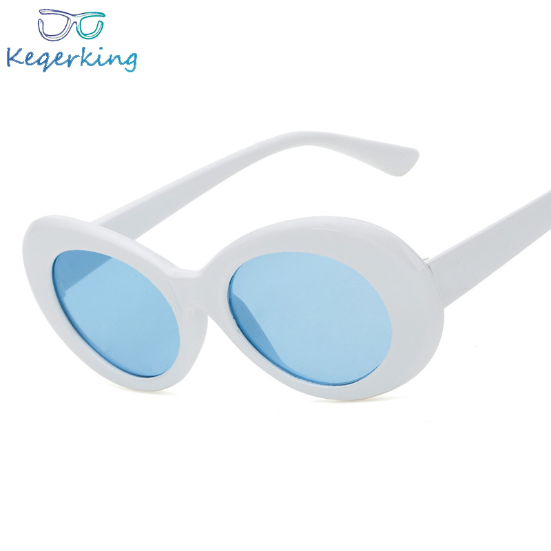 Women Oval Sunglasses Fashion Trend Sunglasses Men Women Vintage Retro Female Male Clear Lens Sun Glasses Eyewear ZA-124