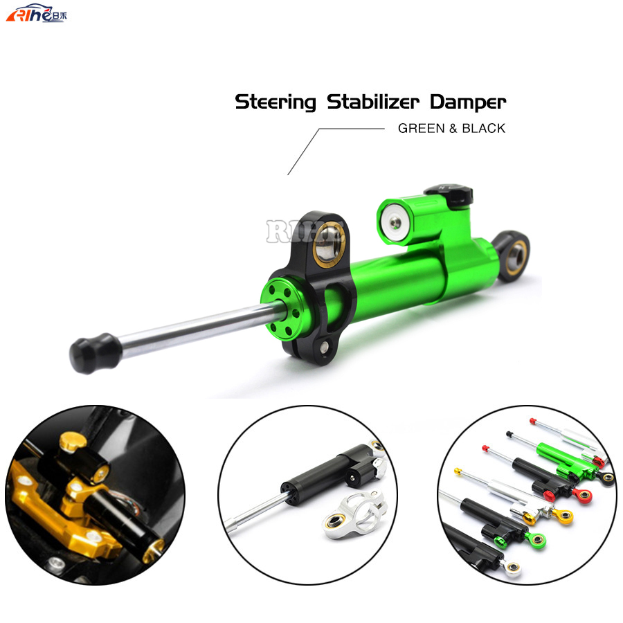 Universal Motorcycle CNC Damper Steering Stabilizer Linear Reversed Safety Control for BMW F700GS F 700 GS F700 GS F 700GS KTM universal motorcycle olhins steering damper aluminum alloy steering damper stabilizer linear reversed safety control 5 colors