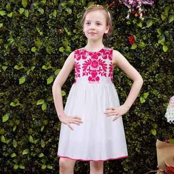 Girls Party Dress Kids Clothes 2017 Brand Summer Princess Dress Children Costumes for Girls  Embroidered Reine Des Neiges