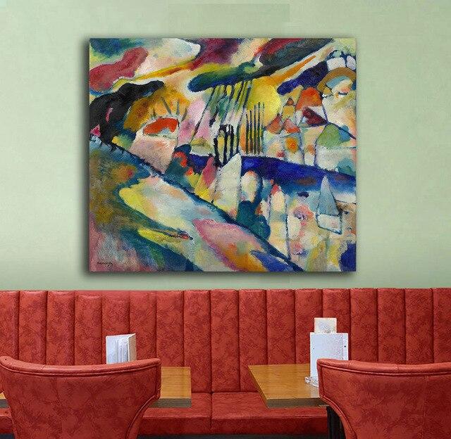 7 54 47 De Réduction Grande Taille Paysage Avec Pluie Kandinsky Peinture à L Huile Mur Art Peintures Photo Peinture Toile Impression Décor à La