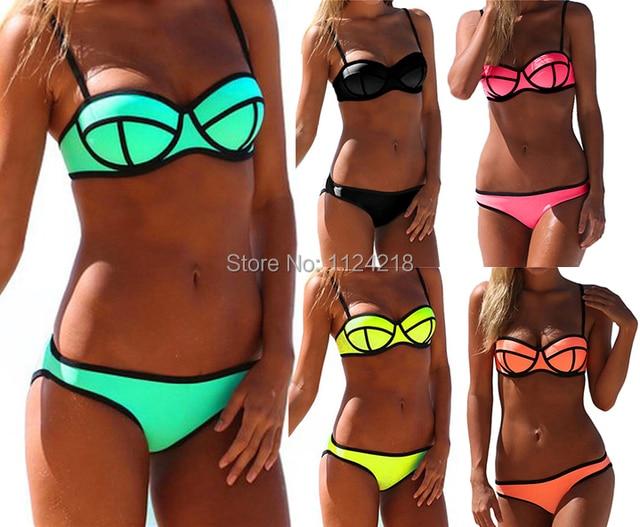 IMILAN 2015 NWT Women Sexy Push up Bright Diving Suit Padded Bikini Set Swimsuit Swimwear