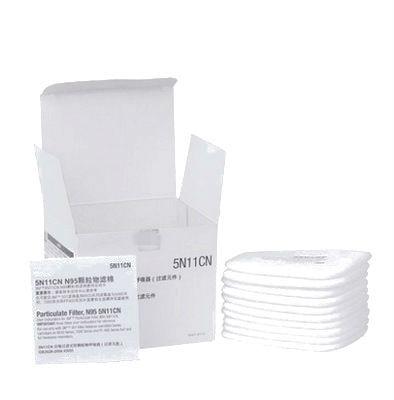 10 Piezas 5n11 N95 De Algodón Filtros 501 Filtro Reemplazable Para 6200/7502/6800/máscara De Polvo Respirador Químico Pintura De Pulverización
