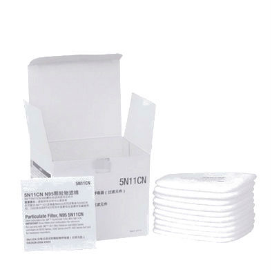10pcs 5N11 N95 Cotton Filters 501 Filter Cover Replaceable For 6200/7502/6800 Dust Mask Chemical Respirator Painting Spraying