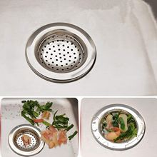 DSHA 4pcs Stainless Steel Kitchen Sink Strainer with Protection of Small Trash Drain Strainer Basket Filter Screen
