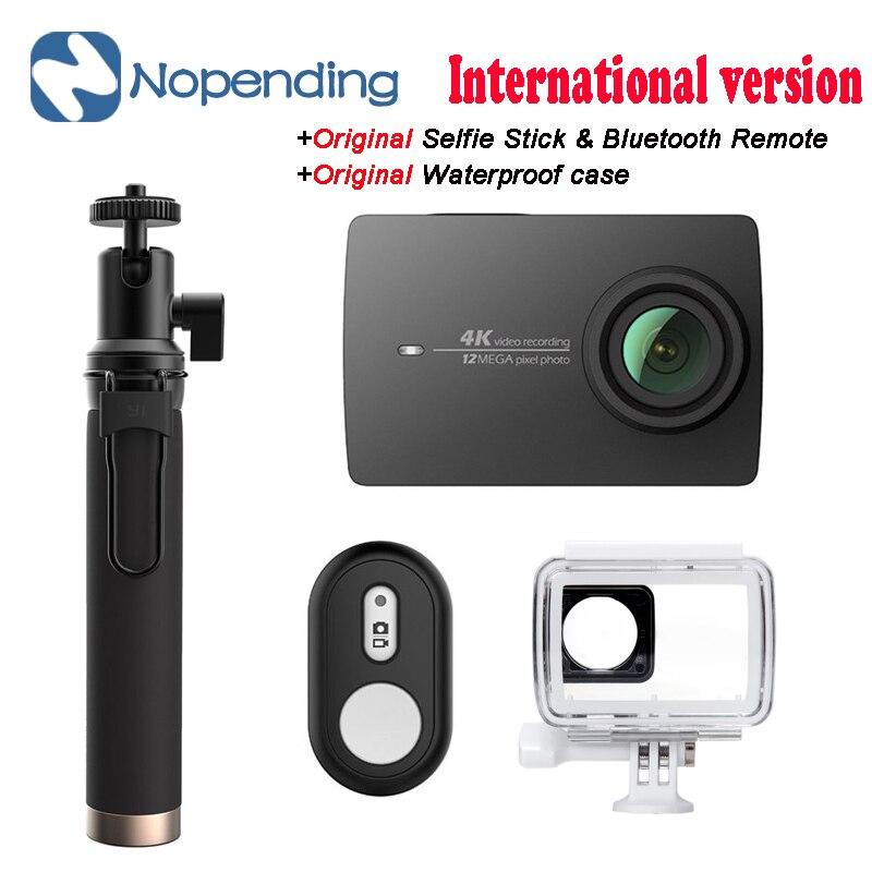 En STOCK!! Nouveauté YI 4 K caméra Sport d'action Xiaoyi 2 II 2.19 écran rétine Ambarella A9SE75 12MP 155 de large pour Xiaomi