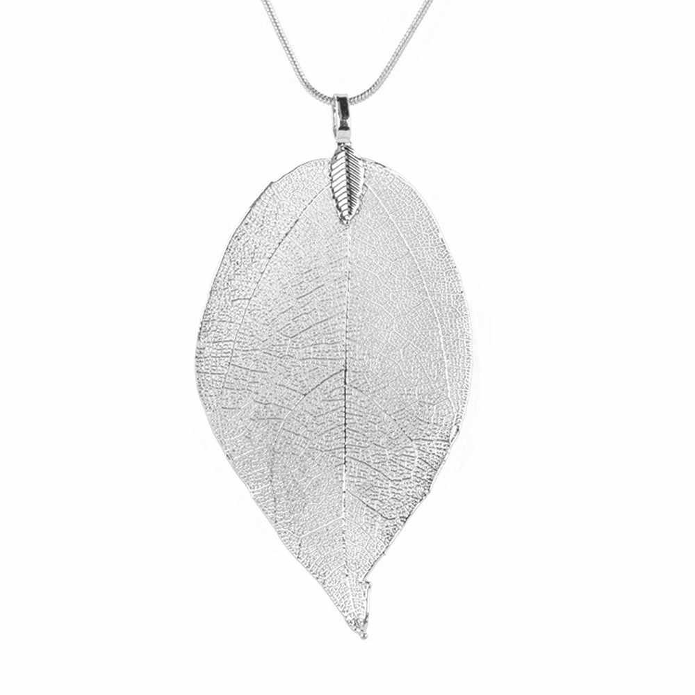 2019 sweter płaszcz naszyjniki damskie dziewczyny specjalne liście liść sweter wisiorek długi naszyjnik łańcuch biżuteria dla kobiet bijou prezent