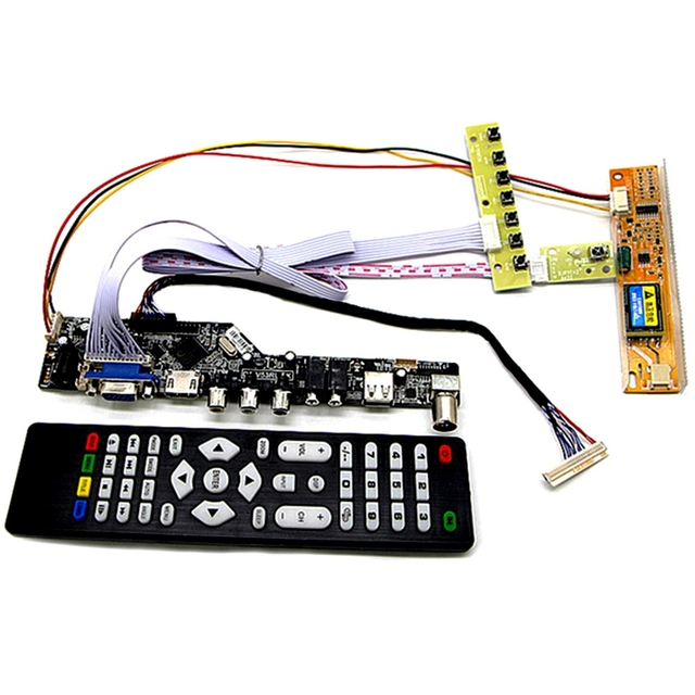 MOOL Tv+Hdmi+Vga+Av+Usb+Audio Tv Lcd Driver Board 15.4 Inch Lp154W01 B154Ew08 B154Ew01 Lp154Wx4 1280X800 Lcd Controller Board