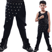 Boys Girls Harem Pants fashion Stage performance style cotton kids pants full length trendy elastic waist