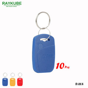 RAYKUBE R-IK4 Square Keyfob 10PcsLot 125Khz RFID Proximity Keyfobs For Door Access System Three Colours